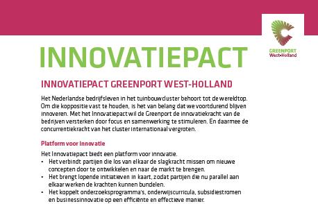 Innovatiepact Greenport wordt ondertekend